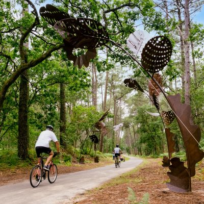 L'Itiné'Rêve : parcours artistique à vélo de Soustons à la plage