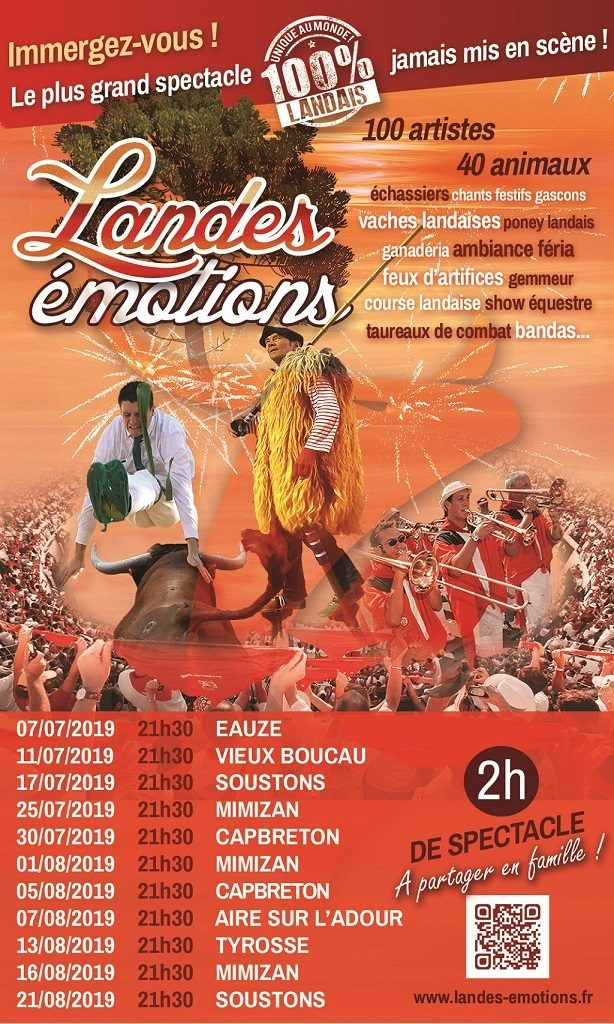 Spectacle Landes Emotions – Tyrosse – Landes Atlantique Sud