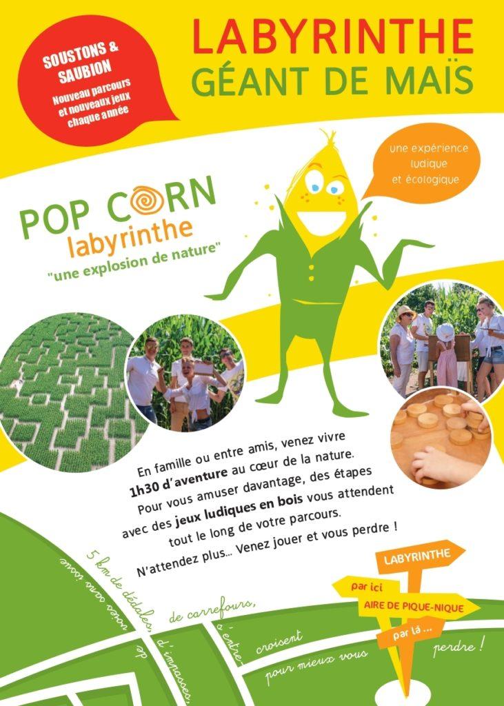 Popcorn Labyrinthe Soustons- Saubion-Landes Atlantique Sud